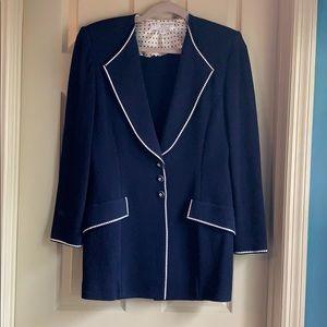 St. John by Marie Gray 6 Navy Santana Knit Jacket